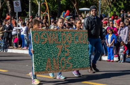 6 de Junho - Desfile de 75 anos, em 2016 – Osvaldo Cruz (SP) – 76 Anos.