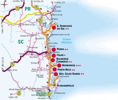 5 de Abril - Camboriú - Santa Catarina - mapa.
