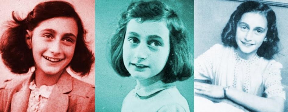 12 de Junho - 1929 – Anne Frank, escritora alemã e vítima judia dos nazistas - Foto tripla.