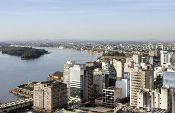 26 de Março - Porto Alegre (RS) - Vista aérea do Centro da Cidade.