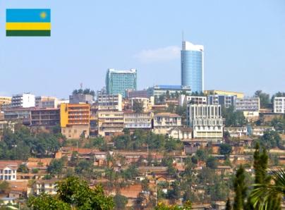 Cidade de Kigali, capital de Ruanda.