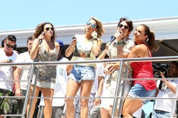 27 de Maio - Daniela Mercury, Alinne Rosa, Saulo e Ivete Sangalo se apresentam no 'Arrastão'..