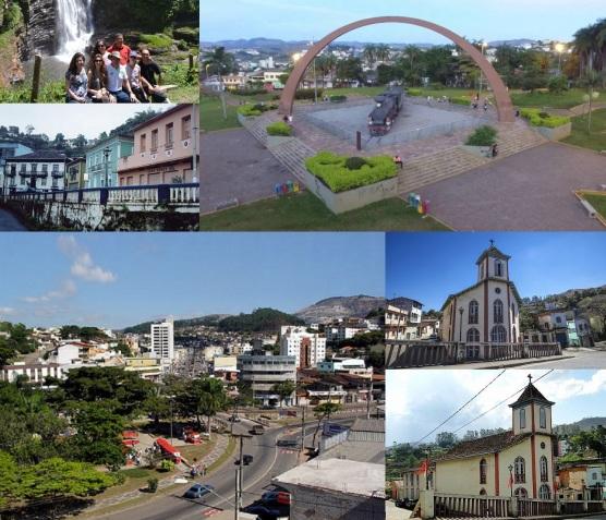 9 de Outubro - Fotomontagem com pontos turísticos da cidade — Itabira (MG) — 169 Anos em 2017.