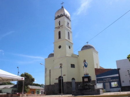 11 de Agosto – Praça da Bonelle, em frente a Igreja de Nossa Senhora da Conceição (Foto de Wenner Tito) — Pedro II (PI) — 163 Anos em 2017.
