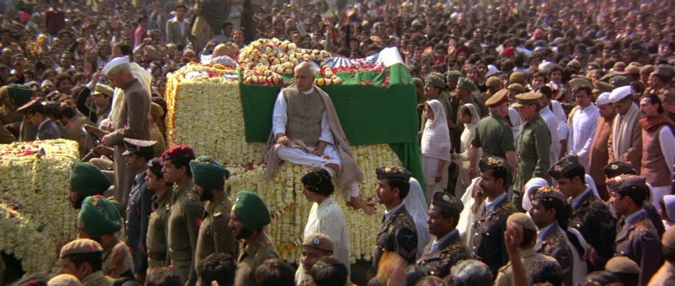 2 de Outubro - Mahatma Gandhi - 1869 – 148 Anos em 2017 - Acontecimentos do Dia - Foto 7 - Funeral de Gandhi, filme.