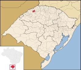 3 de Maio - Três de Maio (RS) - Mapa de localização no RS.
