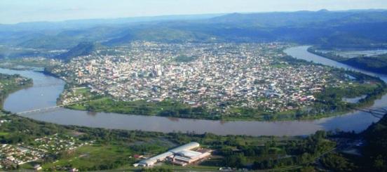 5 de Setembro – Porto União, SC e União da Vitoria, PR - Foto aérea — Porto União (SC) — 100 Anos em 2017.