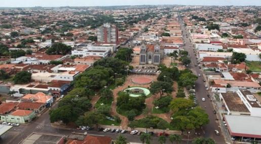 4 de Outubro - Vista panorâmica da cidade — Frutal (MG) — 130 Anos em 2017.