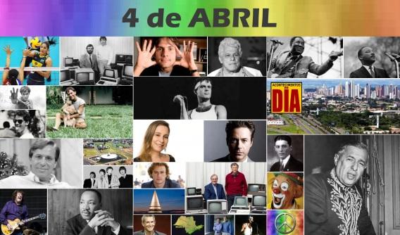 4 de Abril - Poster do Dia