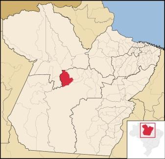 13 de Setembro – Mapa de localização — Uruará (PA) — 30 Anos em 2017.
