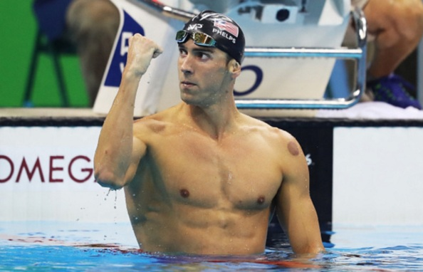 30 de Junho — Michael Phelps, nadador estadunidense, campeão olímpico.