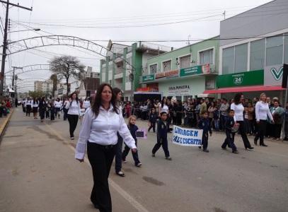 12 de Setembro – Desfile cívico na cidade — Canoinhas (SC) — 106 Anos em 2017.