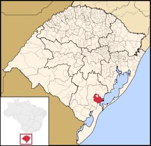 7 de Julho – Mapa de localização — Pelotas (RS) — 205 Anos em 2017.