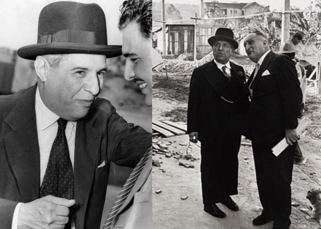 4 de Outubro - Assis Chateaubriand - 1892 – 125 Anos em 2017 - Acontecimentos do Dia - Foto 16 - à direita, Assis Chateaubriand e Adolpho Bloch.