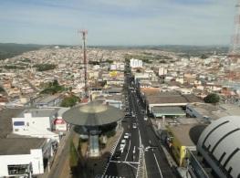 7 de Outubro - Vista panorâmica da cidade — Varginha (MG) — 135 Anos em 2017.