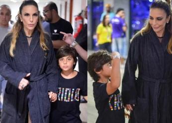 27 de Maio - Ivete Sangalo com o filho Marcelo.