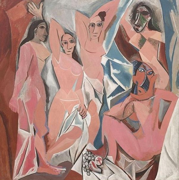 8 de Abril - 1973 — Pablo Picasso, pintor espanhol (n. 1881) - 'Les Demoiselles d'Avignon' umas das obras mais conhecidas do pintor (Museu de Arte Moderna de Nova Iorque).