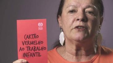 11 de Maio - Bete Mendes - cartão vermelho ao trabalho infantil.