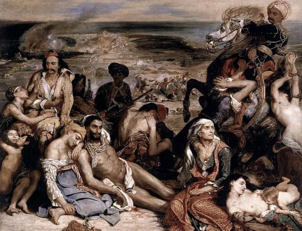 31 de Março - 1822 - O massacre de Quíos por Eugène Delacroix