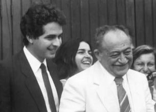13 de Agosto – Miguel Arraes com seu neto, Eduardo Campos.