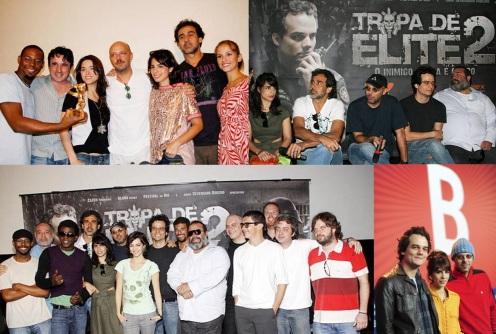 1 de Agosto – José Padilha - 1967 – 50 Anos em 2017 - Acontecimentos do Dia - Foto 13 - Com o elenco do 'Tropa de Elite' 1 e 2.