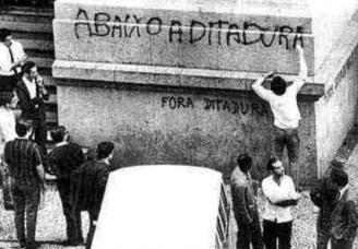 1 de Abril - 1964 — Início do Regime militar no Brasil - Abaixo a ditadura.
