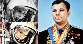 12 de Abril - 1961 — O cosmonauta soviético Iuri Gagarin se torna o primeiro ser humano a viajar para o espaço na Vostok I.