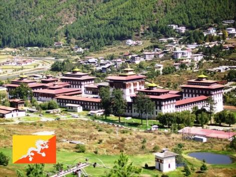 Cidade de Thimbu, capital do Butão.