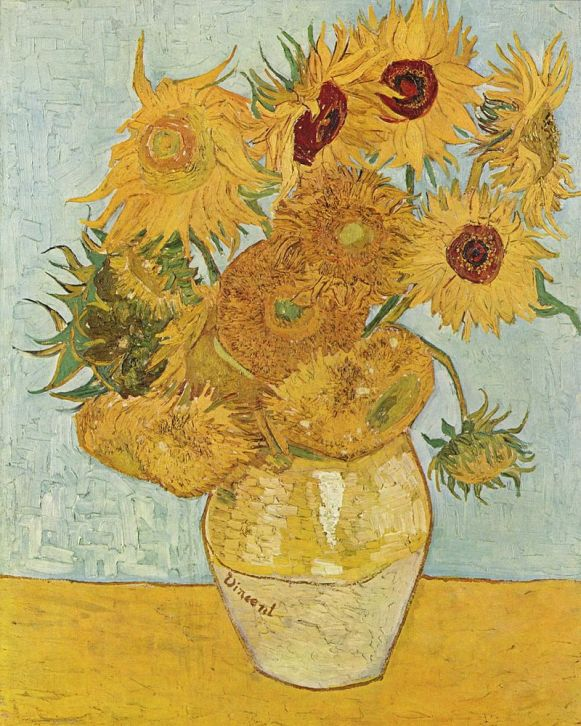 17 de Março - 1901 - Os Girassóis, uma das obras mais conhecidas de Vincent van Gogh.