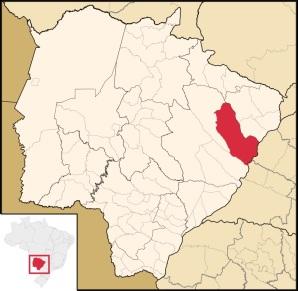 15 de Junho - Localização — Três Lagoas (MS) — 102 Anos.