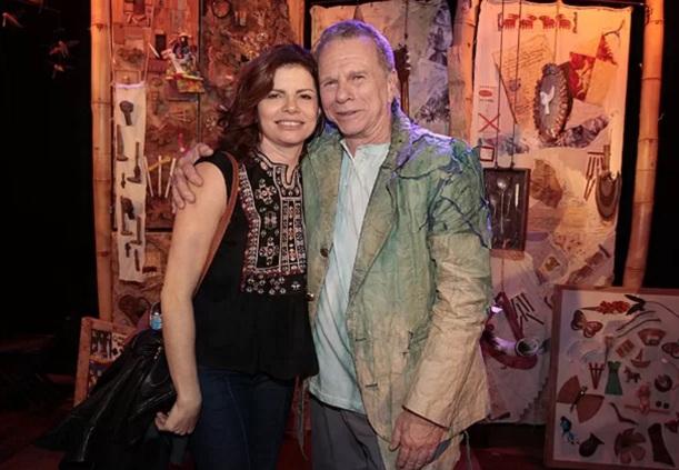 29 de Maio - Debora Bloch com o pai, Jonas Bloch.