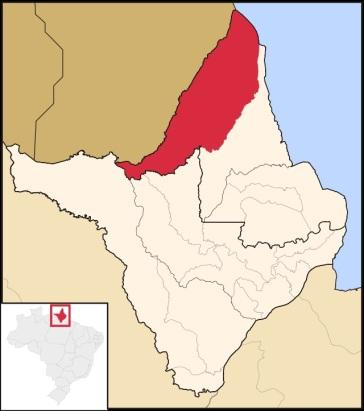 23 de Maio - Localização de Oiapoque no Amapá - Oiapoque (AP) 72 Anos.