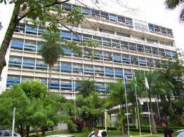 8 de Abril - O Palácio Alencastro, sede da Prefeitura de Cuiabá - MT.