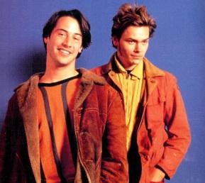 2 de Setembro – Keanu Reeves - 1964 – 53 Anos em 2017 - Acontecimentos do Dia - Foto 28 - River Phoenix e Keanu Reeves.