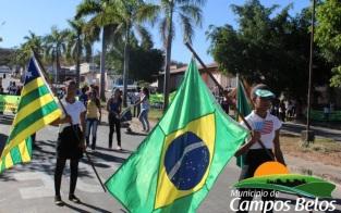 1 de Outubro - Desfile cívico — Campos Belos (GO)— 63 Anos em 2017.