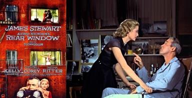 13 de Agosto – Alfred Hitchcock - 1899 – 118 Anos em 2017 - Acontecimentos do Dia - Foto 18 - James Stewart e Grace Kelly em 'Rear Window' - A Janela Indiscreta.