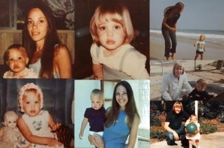 4 de Junho - Angelina Jolie ainda criança com sua mãe, Marcheline Bertrand e seu pai, Jon Voigtite.