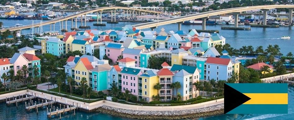 Cidade de Nassau, capital das Bahamas.