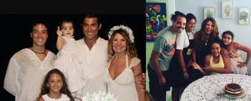 17 de Agosto – Elba Ramalho - 1951 – 66 Anos em 2017 - Acontecimentos do Dia - Foto 2 - Com os filhos e o ex-marido, Gaetano.