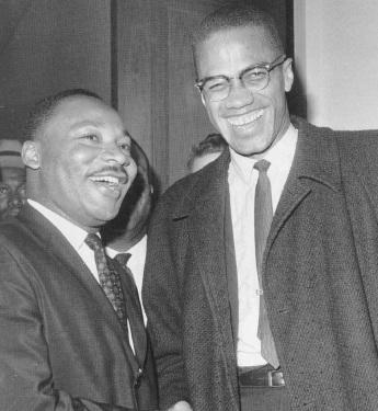19 de Maio - Malcolm X e Martin Luther King.