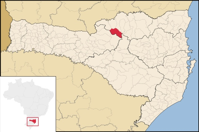 26 de Abril - Timbó Grande - SC - Mapa.