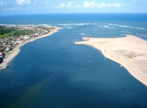 16 de Abril - Foto a érea de Barra do Cunhaú – Canguaretama, RN