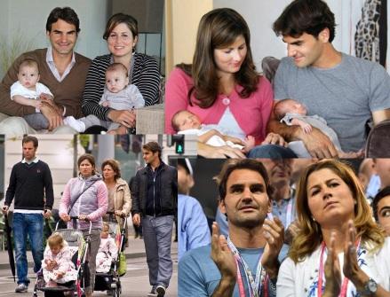 8 de Agosto – Roger Federer - 1981 – 36 Anos em 2017 - Acontecimentos do Dia - Foto 19 - Com a mulher, Mirka e filhos.