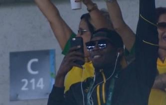 Brasil x Alemanha - Fut. Masculino - Rio 2016 - Usain Bolt comemora gol de Neymar