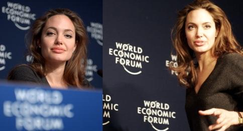 4 de Junho - Jolie na reunião anual do Fórum Econômico Mundial em Davos em janeiro de 2005.
