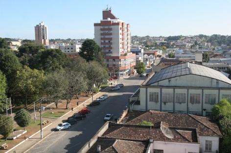 12 de Setembro – Vista panorâmica da cidade — Canoinhas (SC) — 106 Anos em 2017.