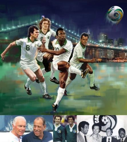 11 de Setembro – Franz Beckenbauer - 1945 – 72 Anos em 2017 - Acontecimentos do Dia - Foto 20 - Franz Beckenbauer, Chinaglia, Pelé, Cruijff e Carlos Alberto Torres, no Cosmos.