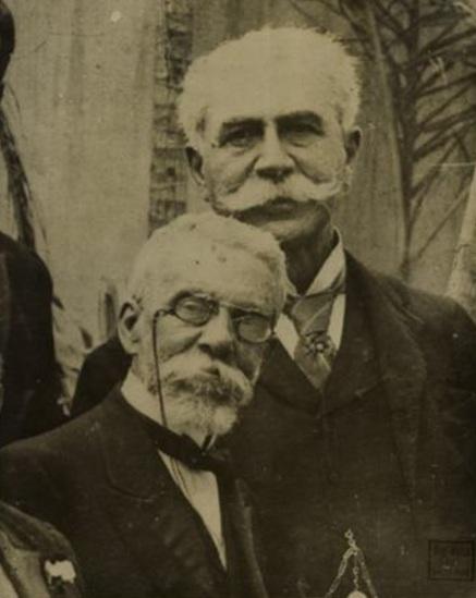19 de Agosto – Joaquim Nabuco - 1849 – 168 Anos em 2017 - Acontecimentos do Dia - Foto 8 - Machado de Assis e Joaquim Nabuco.
