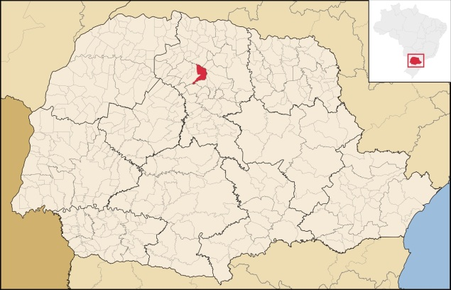 6 de maio - Localização de Mandaguari no Paraná.