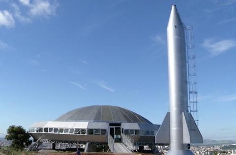 7 de Outubro - Caixa d'água em forma de foguete, ao lado do Museu do ET — Varginha (MG) — 135 Anos em 2017.